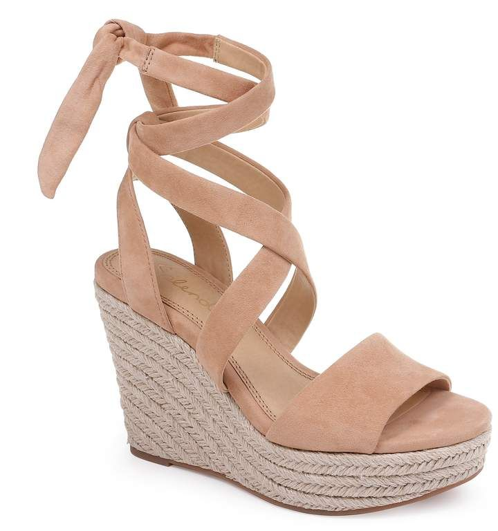 Splendid Tessie Ankle Wrap Wedge Sandal Women Ankle Tie