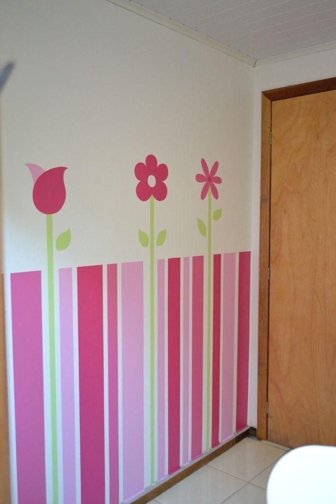 Pintura em parede de quarto infantil tintas e pinc is - Pinturas de paredes ...