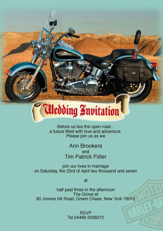Harley Davidson Wedding Invitations   Meridian Bride   Sylvia ...