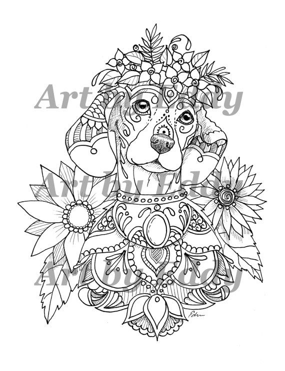 Art Of Dachshund Single Coloring Page Dachshund Tattoo Coloring Book Art Coloring Books