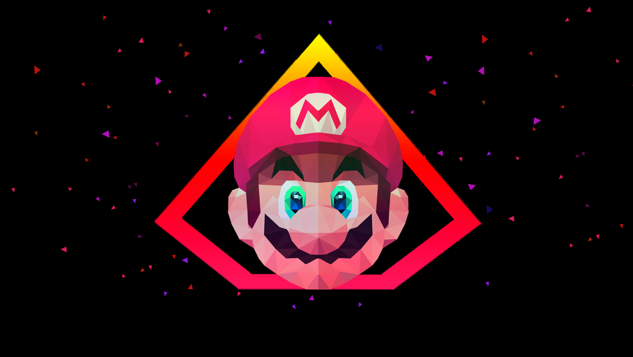 Super Mario Polygonal Art made by Gift Mones