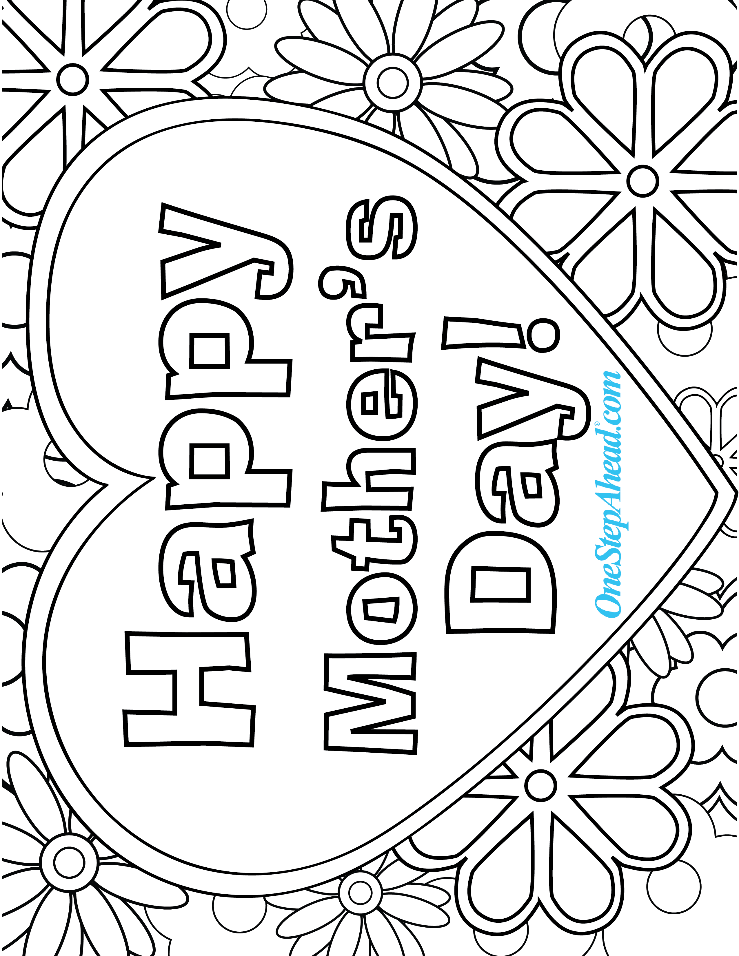 Happy Mother\'s Day free coloring page printable for kids! | Holiday ...