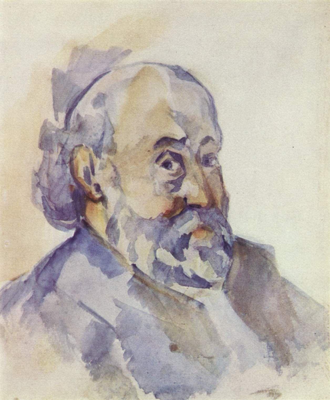 Watercolor art history - Self Portrait Paul C Zanne Circa Watercolor