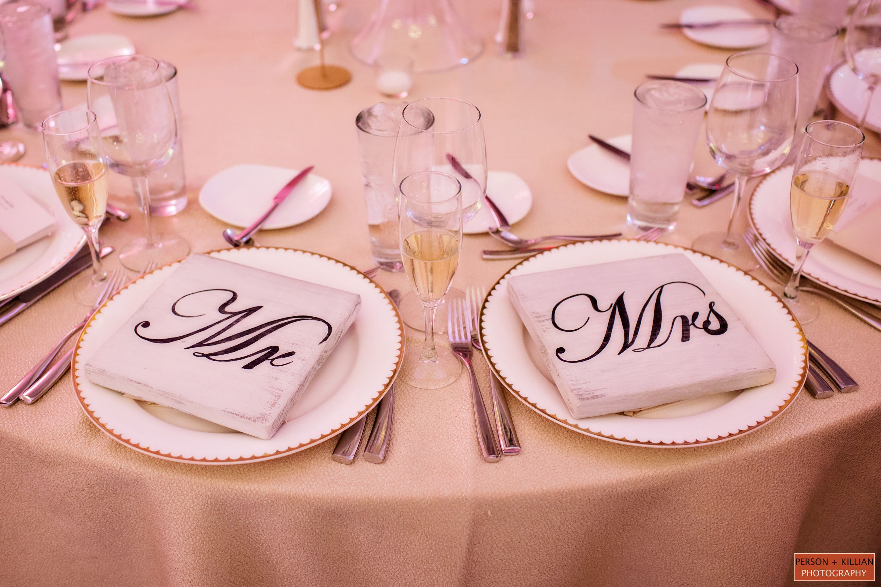 His and hers. Person + Killian Photography #weddings #tabledecor ...