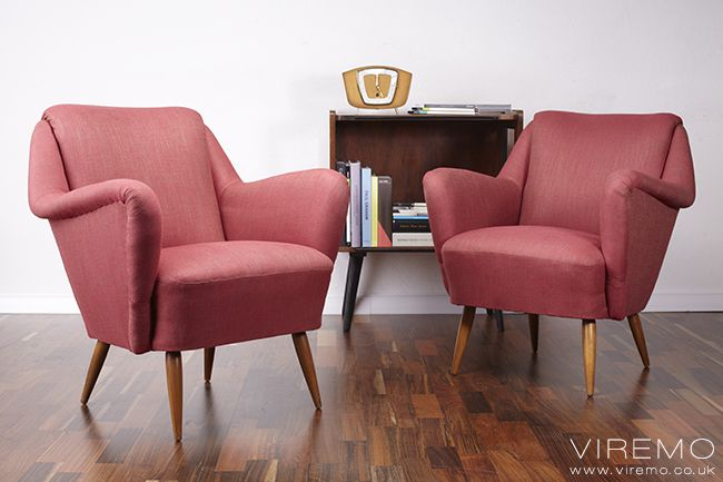 Pair Of Cocktail Chairs Vintage Armchairs Www Viremo Co Uk