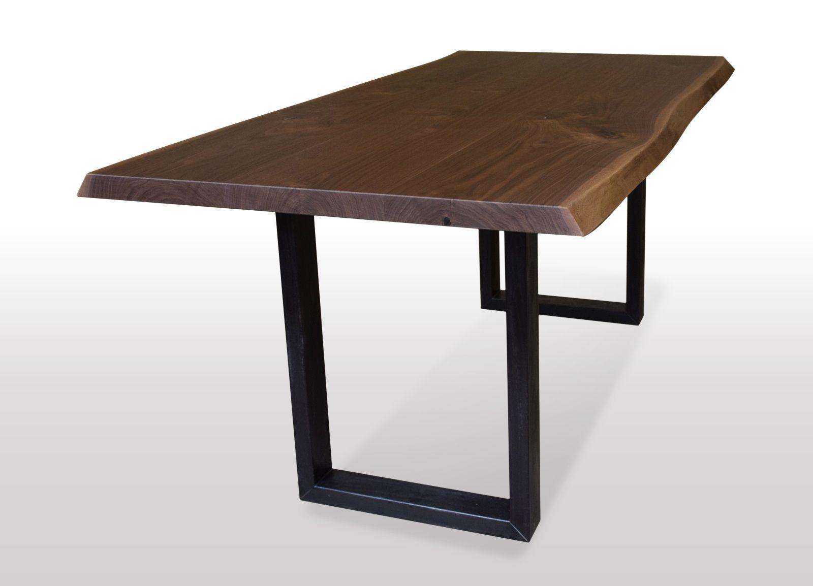 Tisch mit Baumkante Wildnuss Breite 80cm Länge wählbar