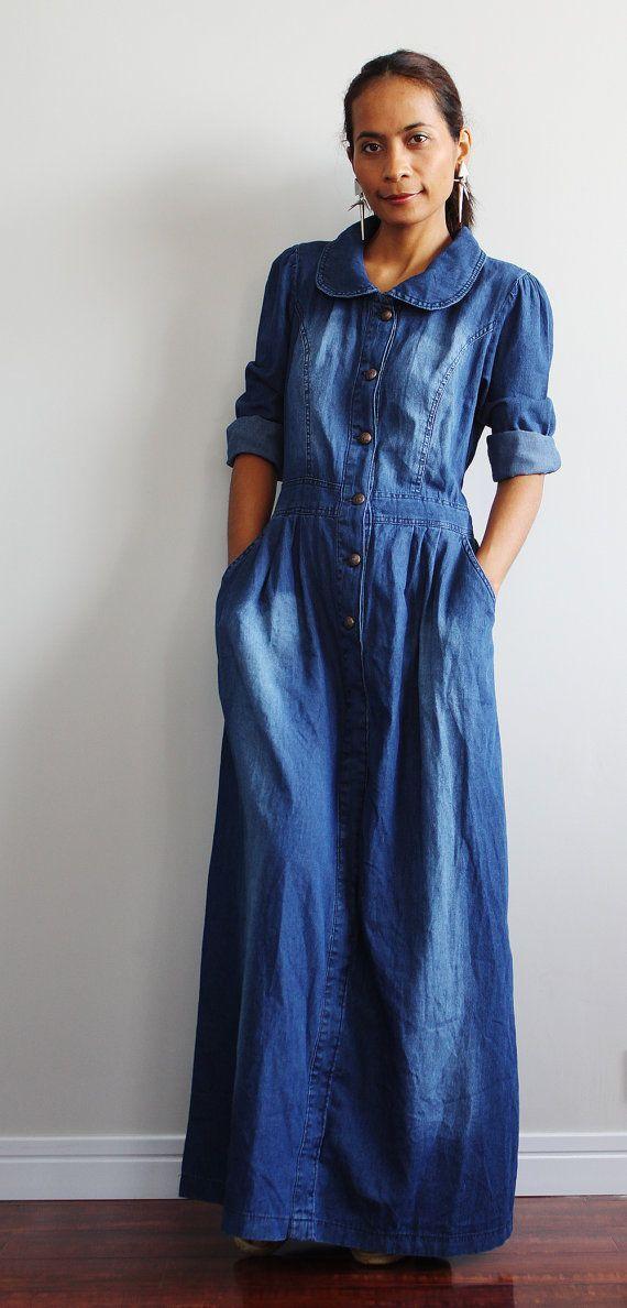 Pinterest Denim Dress,denim maxi dress,denim maxi dress,