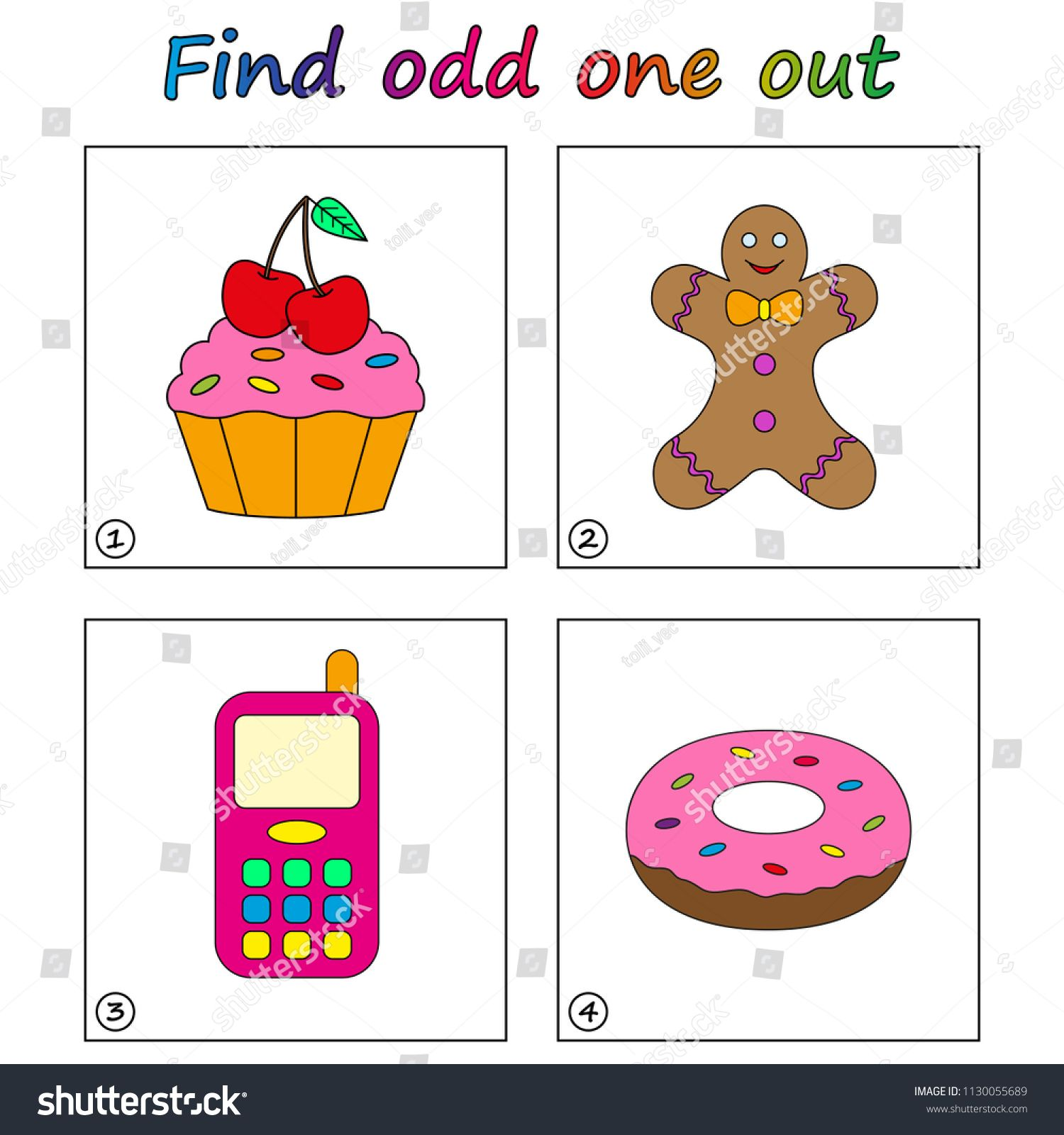 Find Odd One Out Game For Kids Worksheet Visual Educational Game For Children Sponsored Game Kids Fi Games For Kids Educational Games For Kids Kids Stock [ 1600 x 1500 Pixel ]