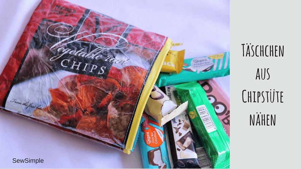 Upcycling: Täschchen aus Chipstüte nähen