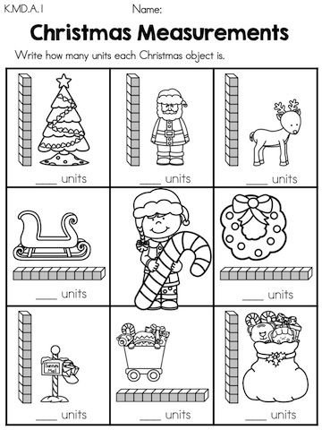 Christmas Measurement With Units Part Of The Christmas Kindergart Christmas Math Worksheets Kindergarten Christmas Math Worksheets Christmas Math Activities