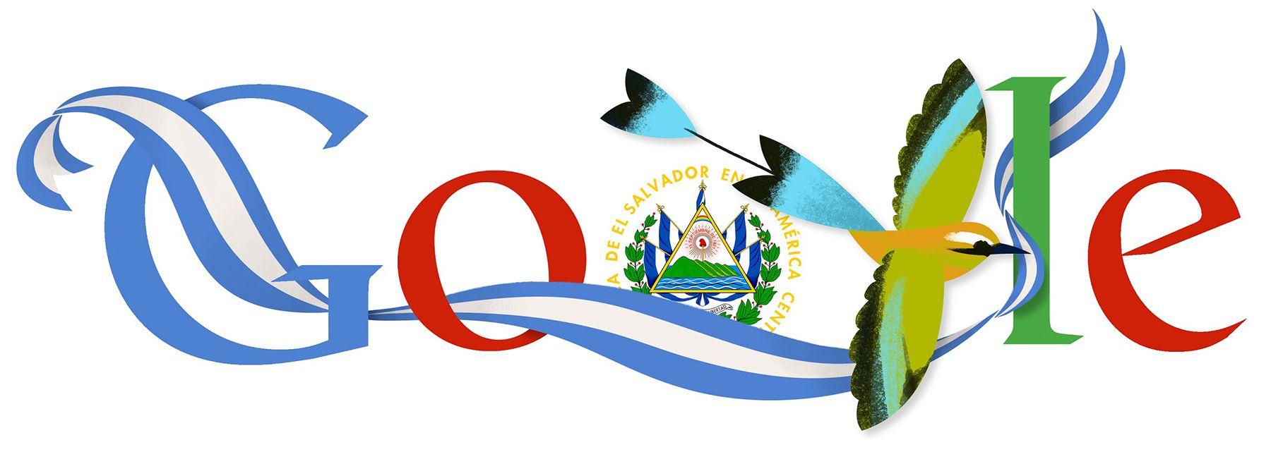El Salvador Independence Day [День независимости Сальвадора] /This doodle was shown: 15.09.2013 /Countries, in which doodle was shown: El Salvador