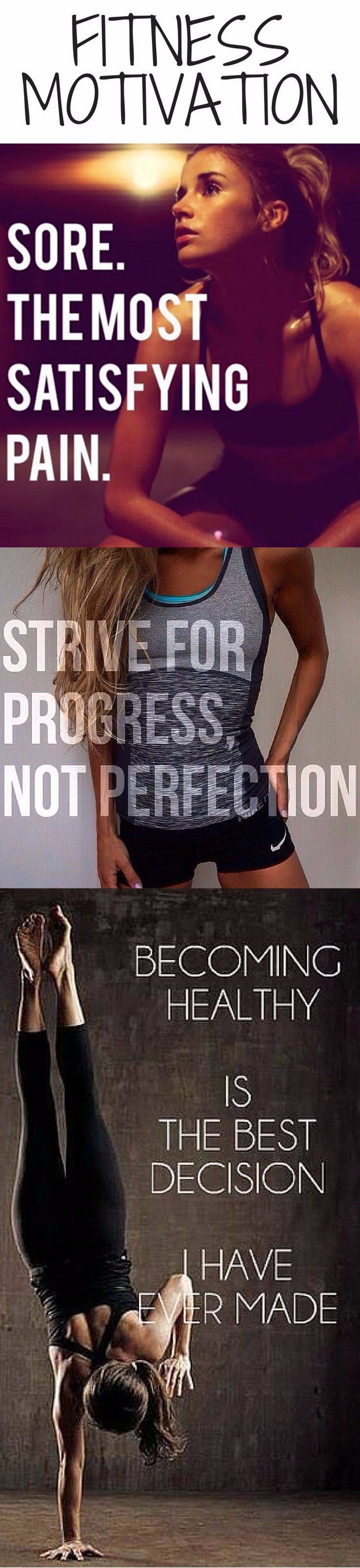 """""""strive for progress not perfection""""..I like the sound of that!"""