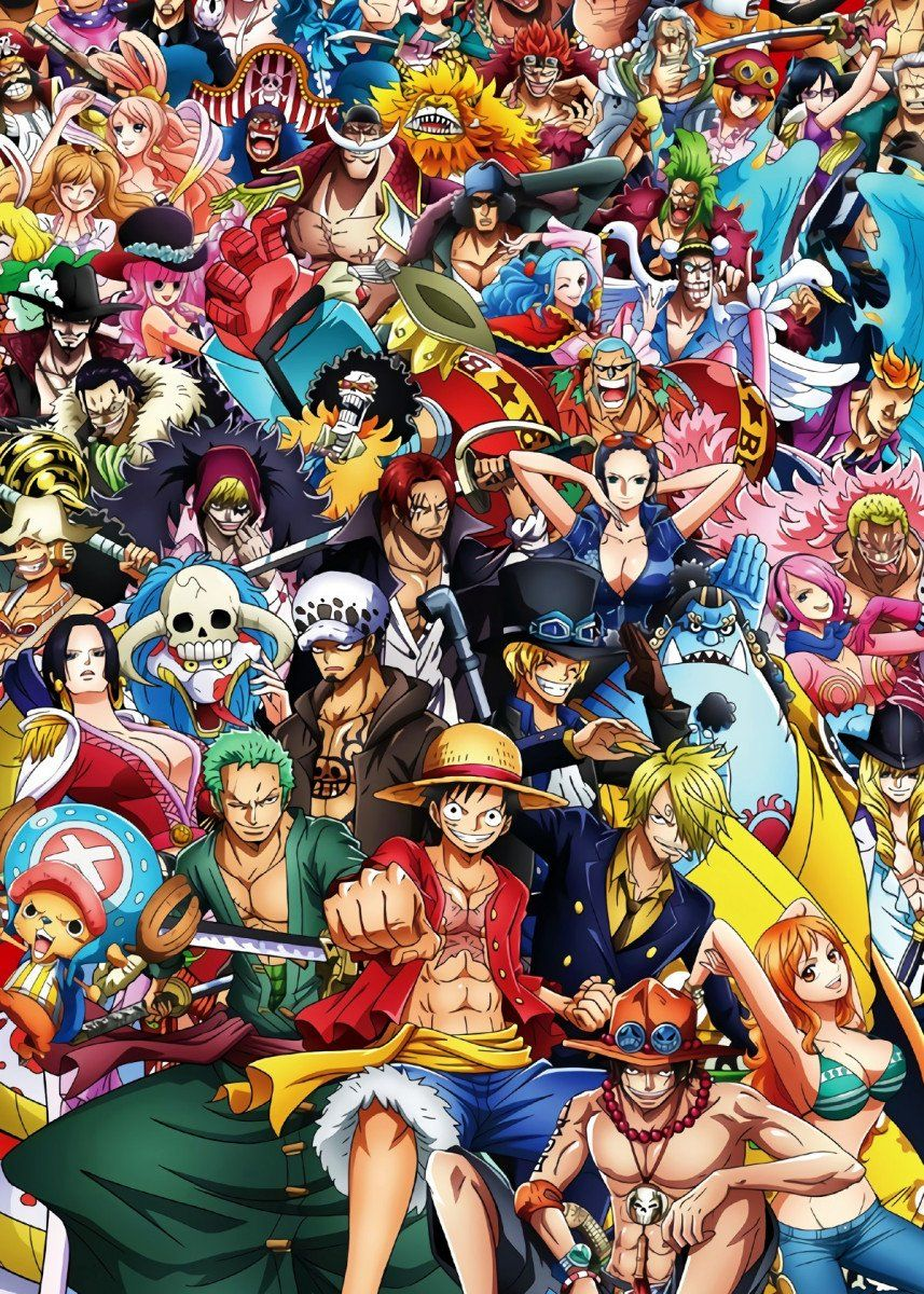 'One piece' Poster Print by OnePieceTreasure Displate in