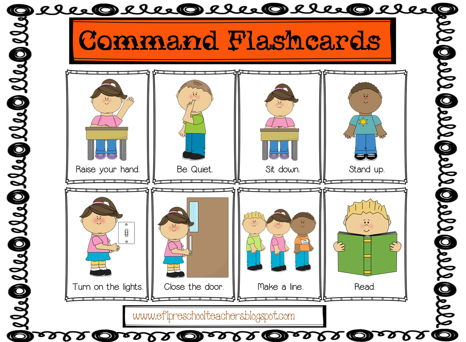 Libros Listening Ingles Esl Commands Flashcards Tpt Products From My Blogs