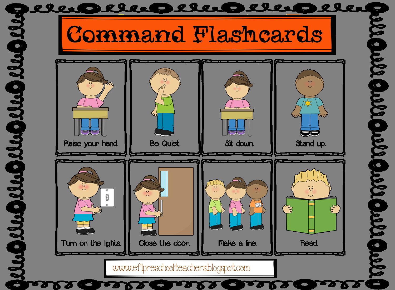 Esl Commands Flashcards