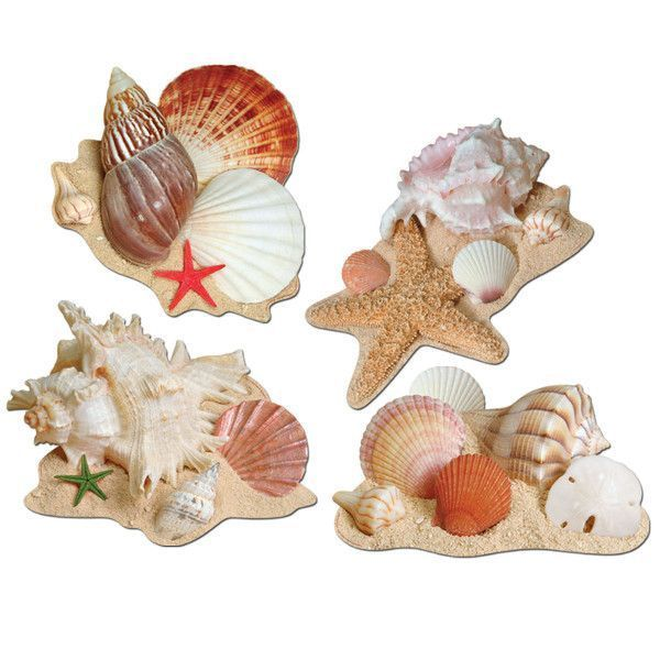 Seashell Cutouts 4ct