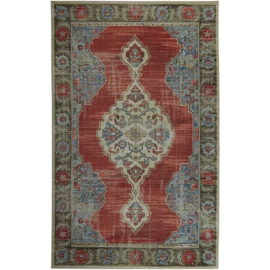Mohawk Home 10 Ft X 14 Ft Mismere Red Z0582 A400 120168 In 2020 Mohawk Home Area Rugs Rugs