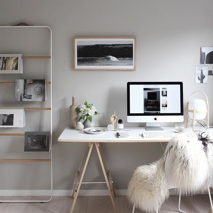 19 stylish scandinavian home offices that will make your more werkplek van michelle van the design chaser find this pin and more on do it yourself solutioingenieria Images