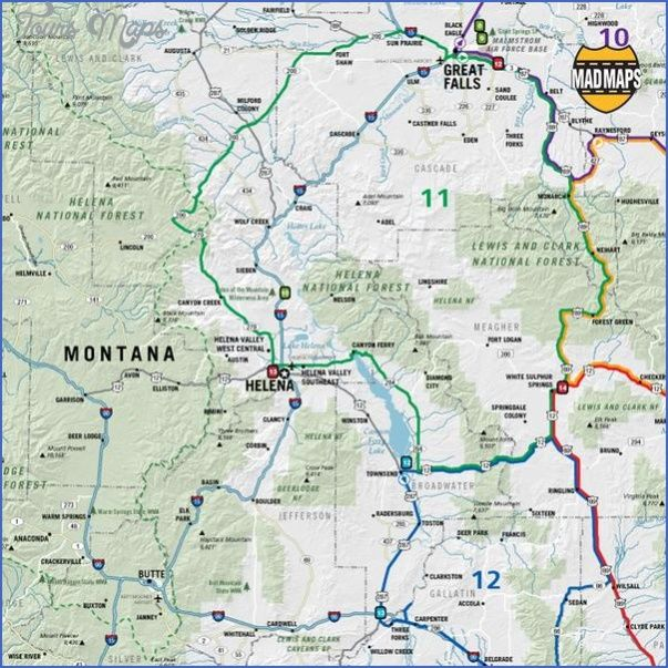 Awesome Map Of Montana And Wyoming Map Wyoming Montana