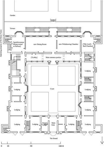 Ground Floor Plan Before Garden Wings Added Northumberland House London Floor Plans Ground Floor Plan Northumberland House