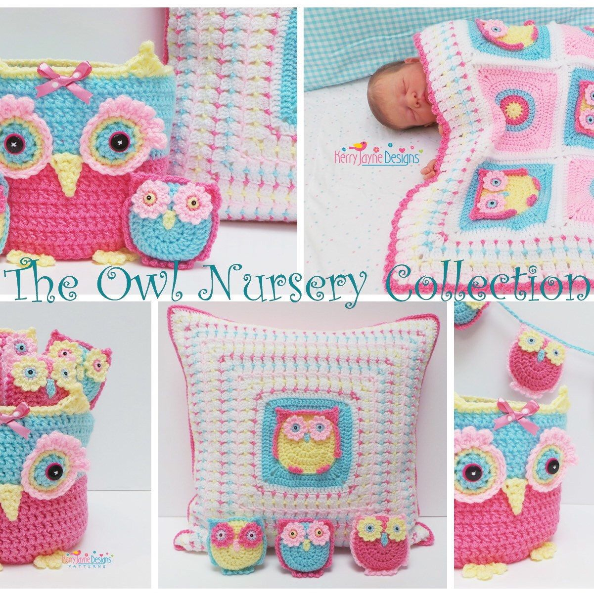 The complete \'Owl Nursery Collection\' in one Crochet pattern Ebook ...