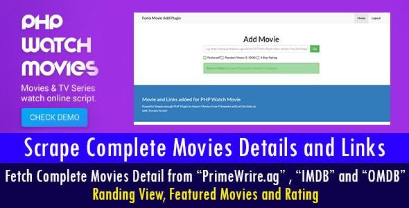 Plugin for PHP Watch Movies Script | wptemple | Movie