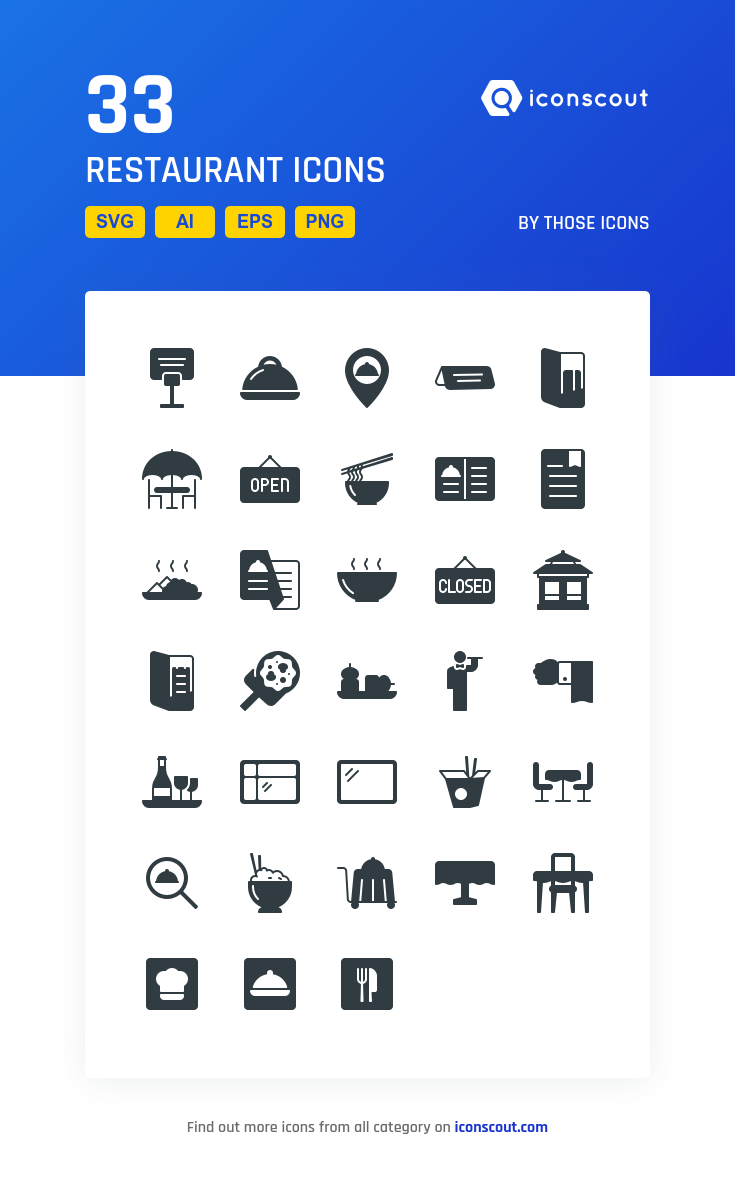 Restaurant Icon Pack 33 Solid Icons Restaurant Icon Icon Pack Icon