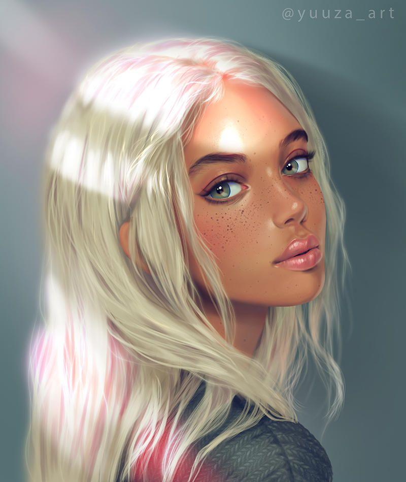 Light By Yuuza On Deviantart Digital Portrait Art Digital Art Girl Digital Art Illustration
