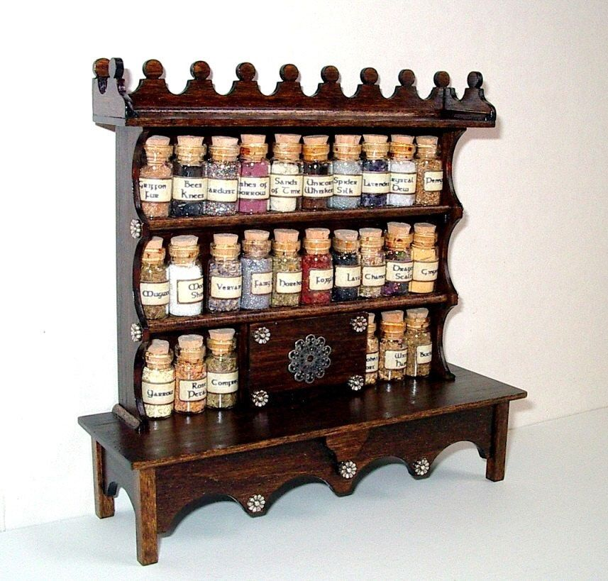 Dollhouse Miniature Wall Spice Rack