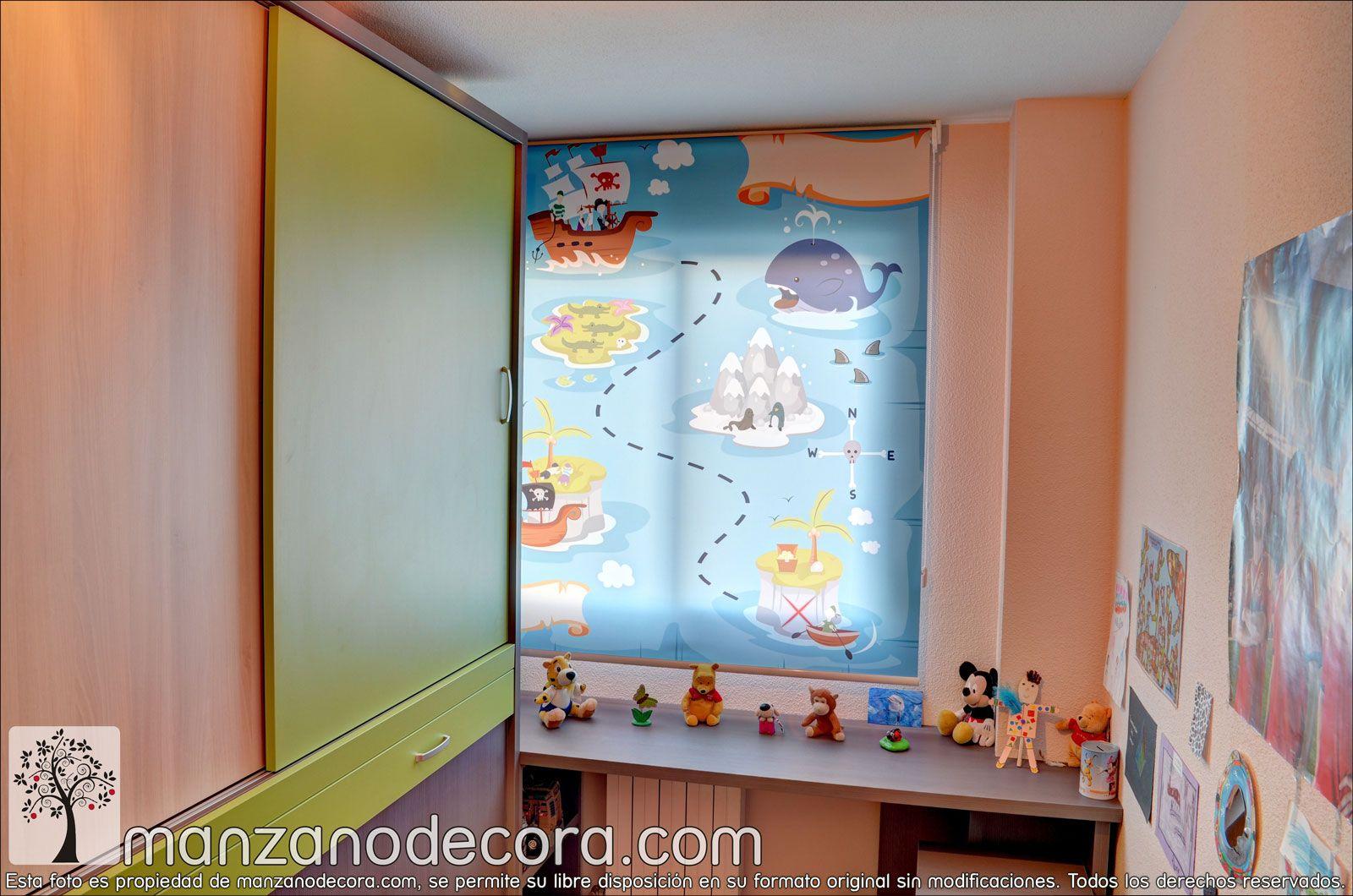Estores Enrollables Fotográficos Infantiles http://www.manzanodecora ...