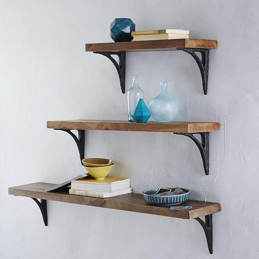 36++ Wood shelves with black brackets ideas