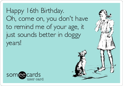 Funny Birthday Ecard Happy 16th Oh Come On You Don