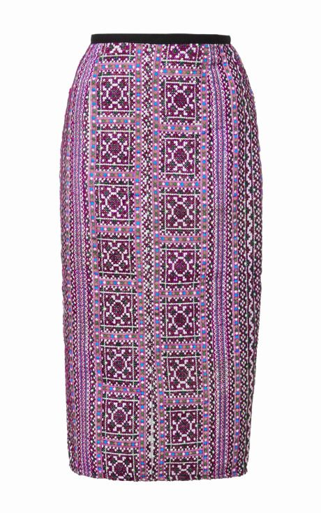 Mochi Thailand Pencil Skirt In Purple by Mochi for Preorder on Moda Operandi