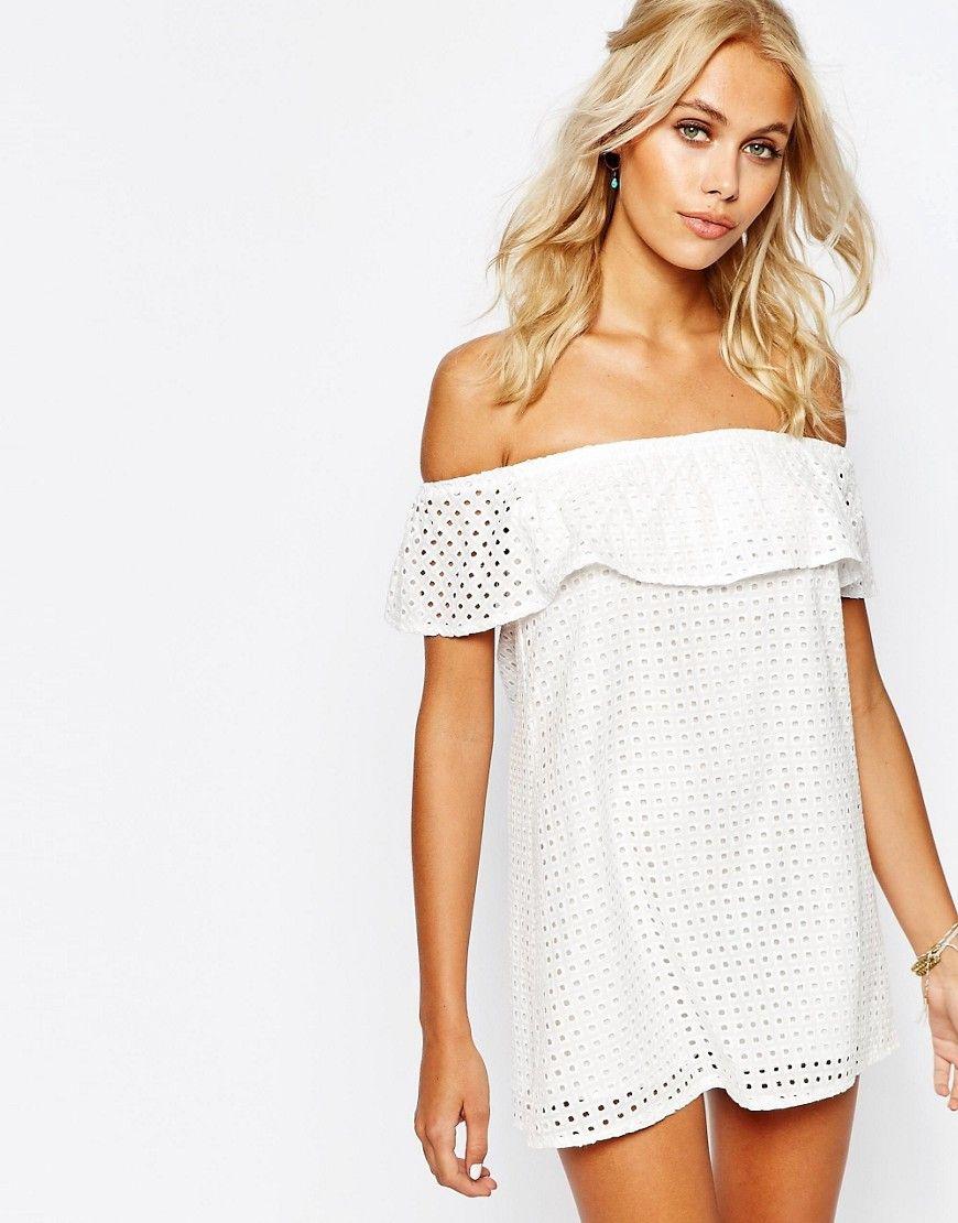 e3fc3111819 Asos Fashion Union Crop Layer off shoulder dress on ShopStyle