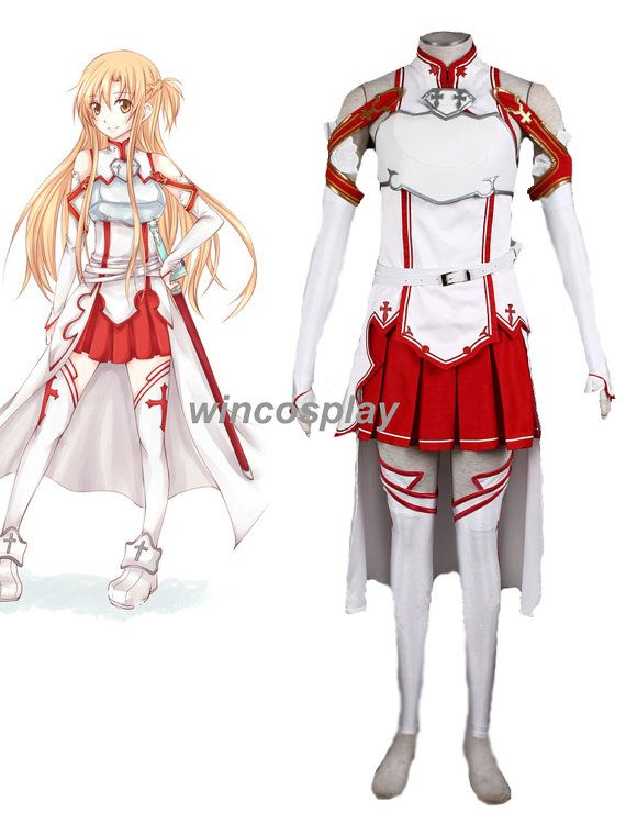 Sword Art Online (SAO) Asuna Yuuki Anime cosplay costume outfit on Etsy f18f9459f3b0