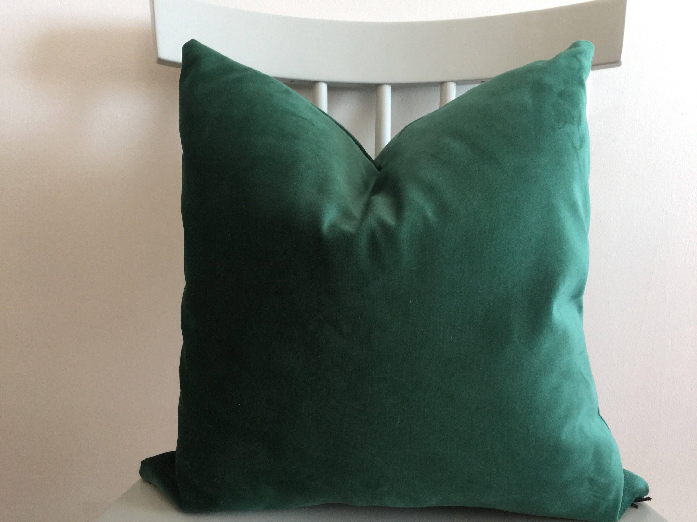 Designer fabric balsam emerald green velvet pillow cover euro sham
