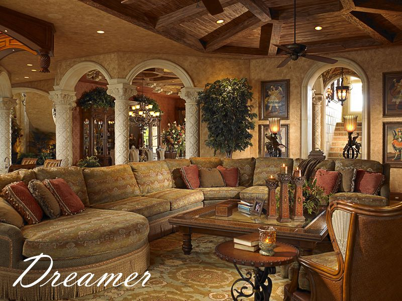 Mediterranean Tuscan World Decor: Mediterranean Furniture Style Living Room