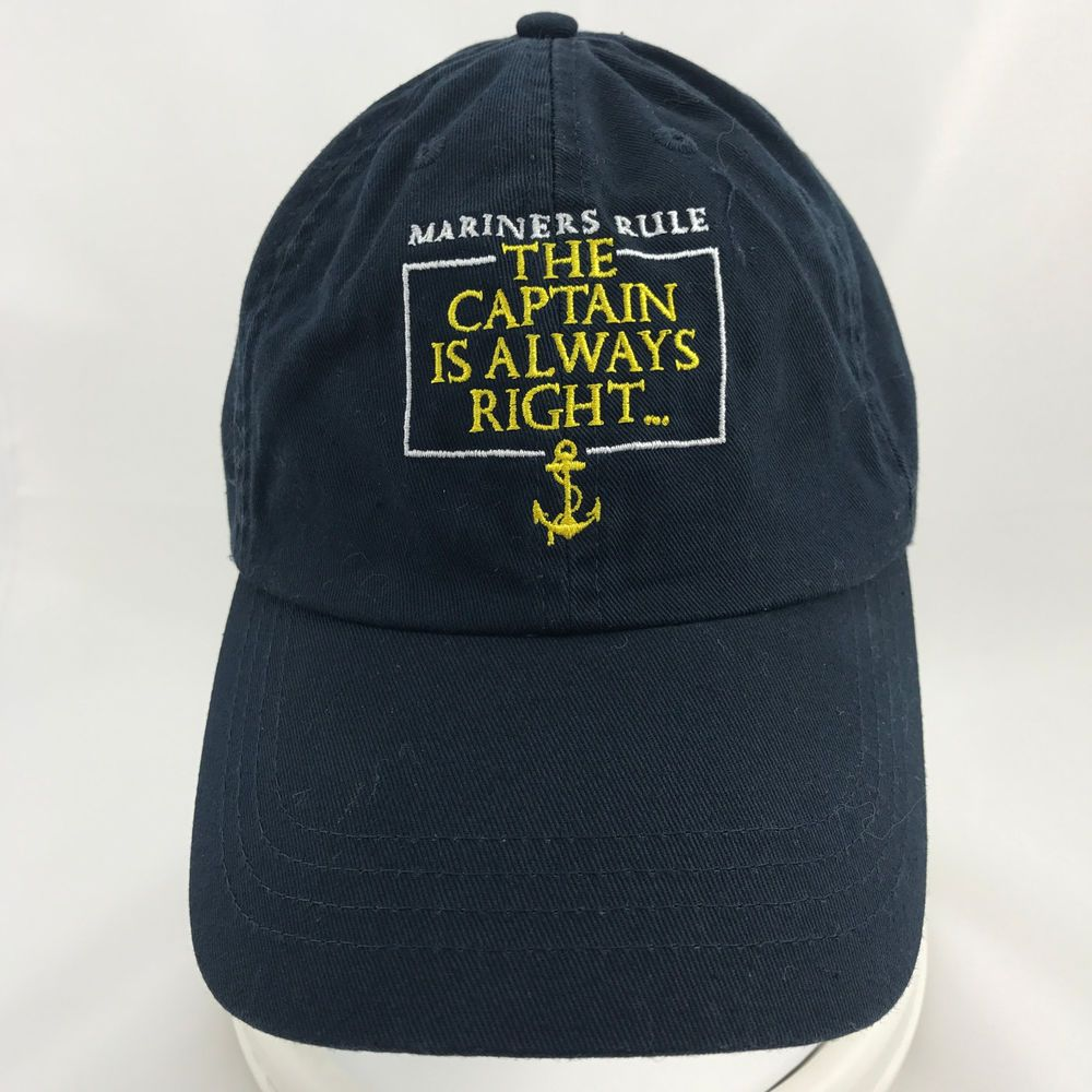 e7332a2399f Mariners Rule The Captain is Always Right Im the Captain Baseball Cap  Adjustable  Unbranded  BaseballCap  ad