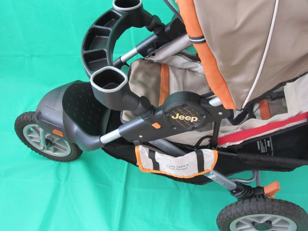 J Is For Jeep Adventure All Terrain Jogging Stroller Orange