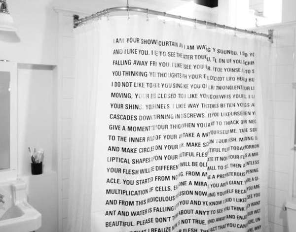 Word Nerd Shower Covers Dave Eggers Curtains Shower Curtain