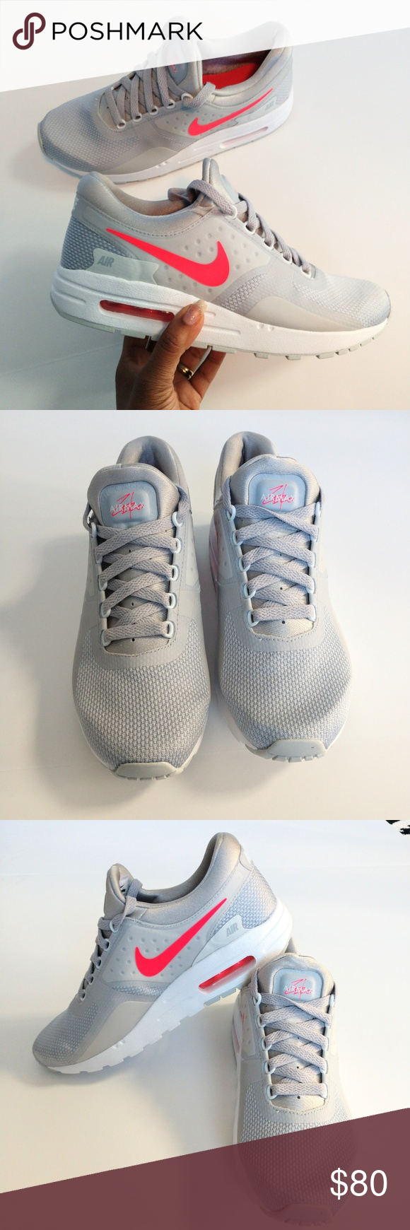 new product ed34d 70a9f NEW Nike Air Max Zero BRAND NEW W O tag   box. Size 7 youth   8.5 women  Color   cool gray   pink No rips, stains or tears Buy with confidence  100%  ...