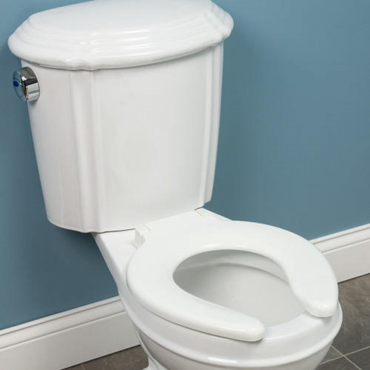 Traditional Open Front Round Toilet Seat White