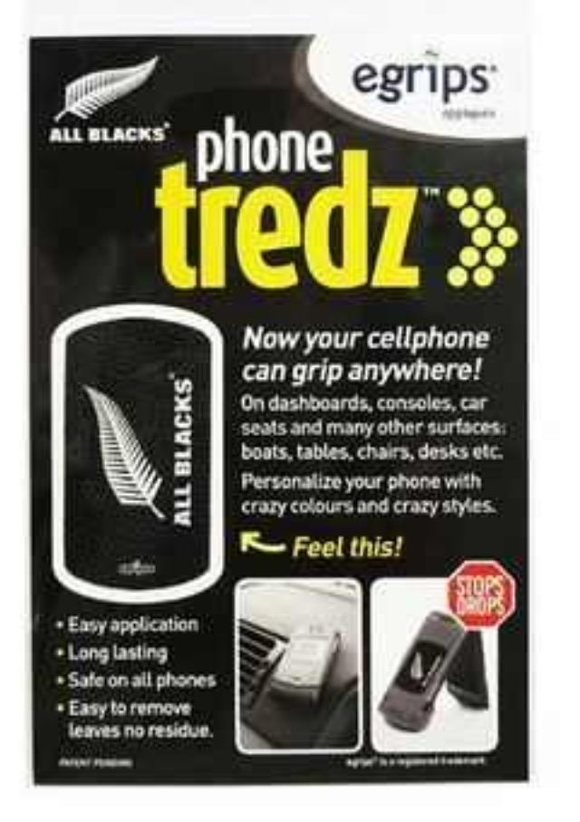 Now this is a clever product. The All Blacks Phone Tredz
