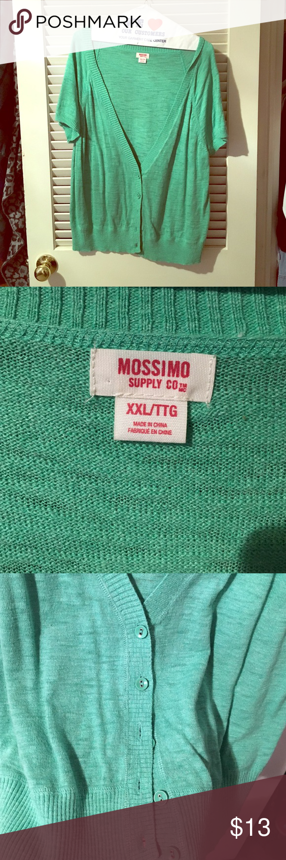 Mossimo Green Short Sleeve Cardigan | Shorts, D and Sweater cardigan