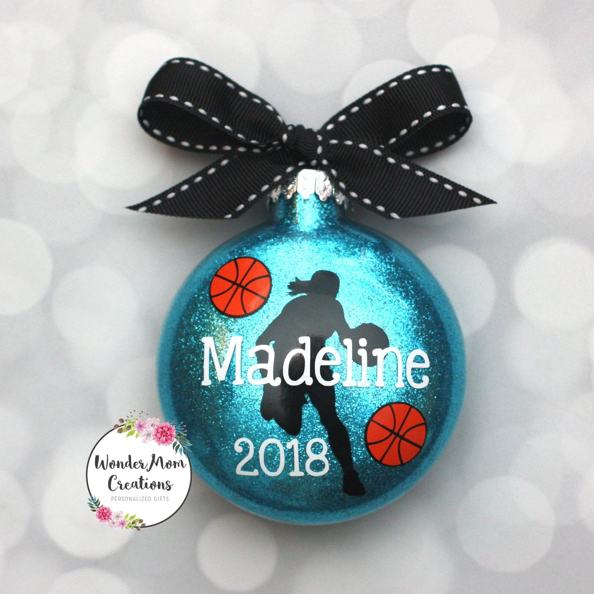 Girl Basketball Player Personalized Ornament; Ladies