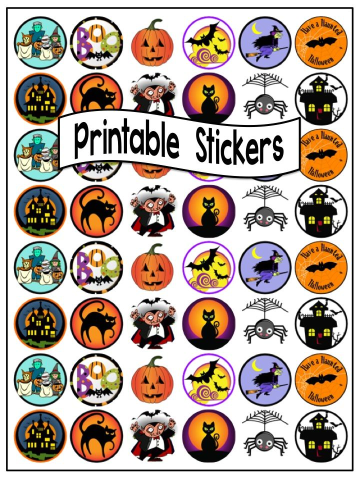 $2 the whole set - Printable 'Halloween' Sticker Templates at Clever  Chameleon TPT.