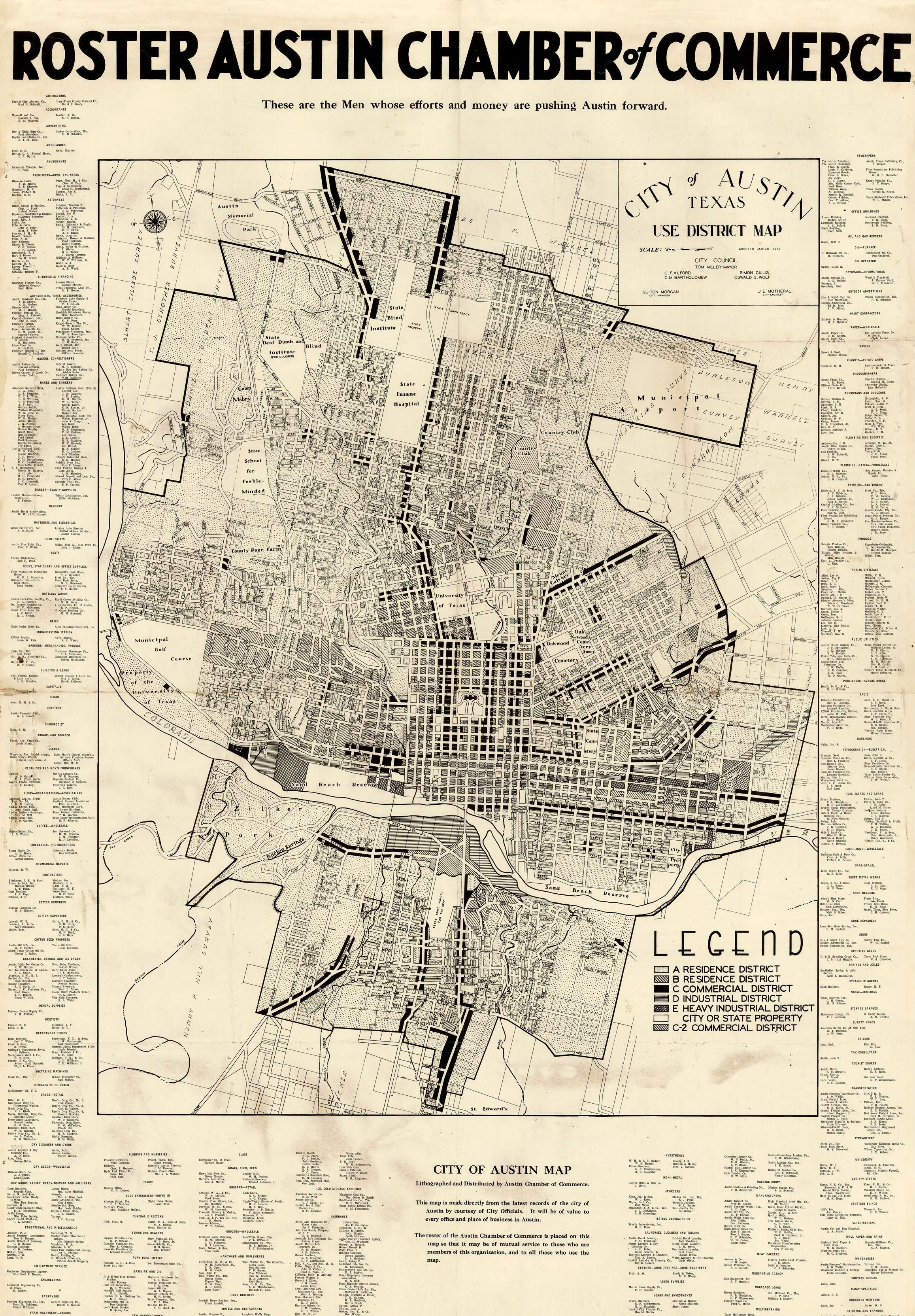 vintage austin neighborhood map  Google Search  Austin Texas