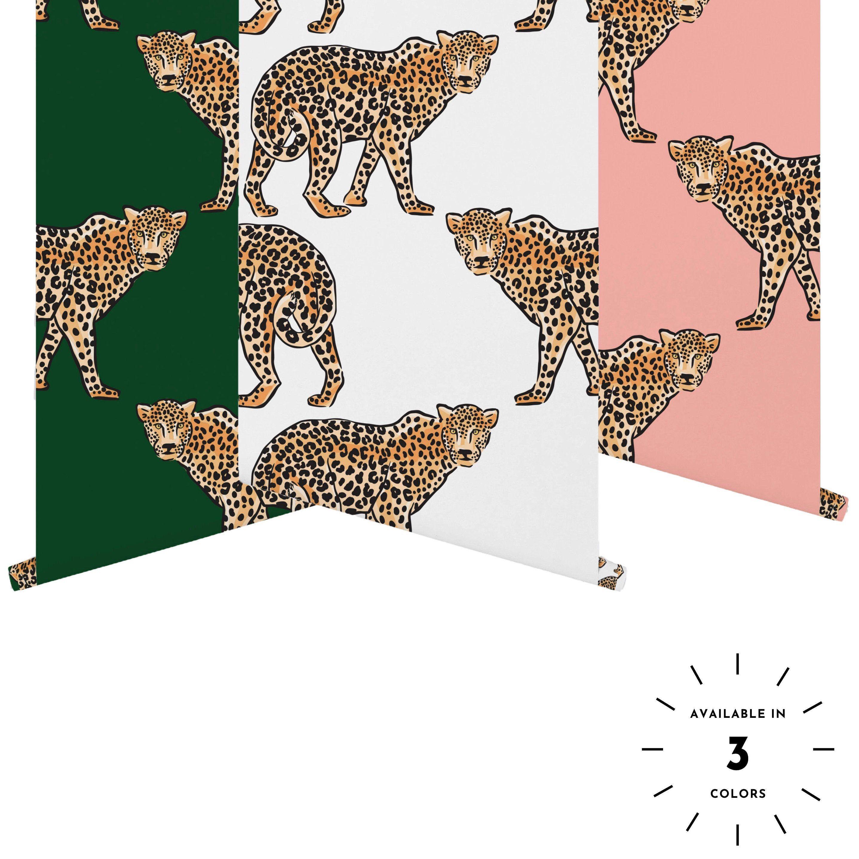 Jungle Leopard Removable Wallpaper Tropical Removable