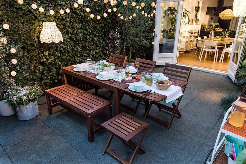 Ikea tuinset tuininspiratie tuinontwerp terras in 2018