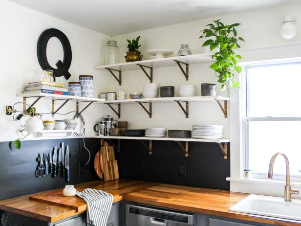 Kitchen Shelves Instead Of Upper Cabinets Google Search With